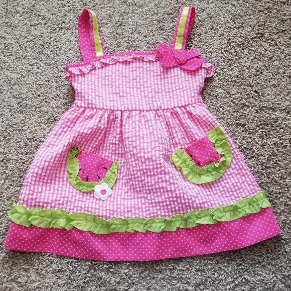 b2a13fd5 Samara Dresses | 3t Smocked Watermelon Dress | Poshmark